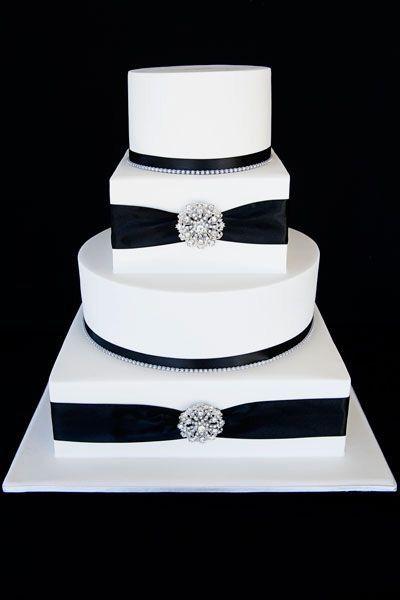 bolo casamento noiva preto branco 7