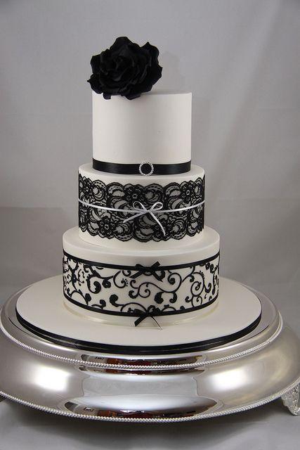 bolo casamento noiva preto branco 8
