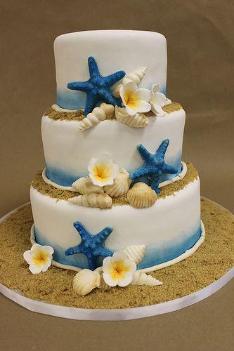 bolo casamento praia