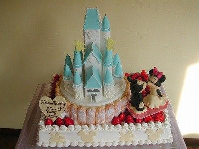 bolo castelo princesa azul