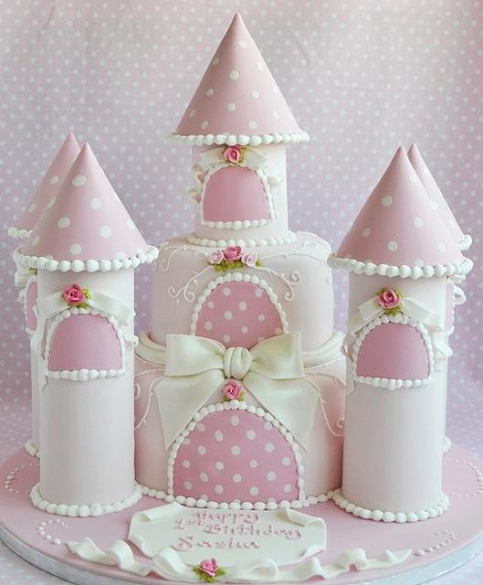 bolo castelo princesa decorado rosa
