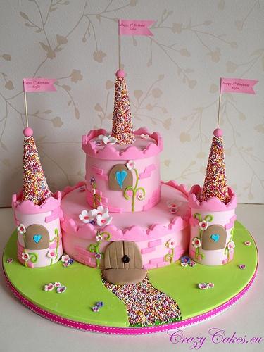 bolo castelo princesa rosa