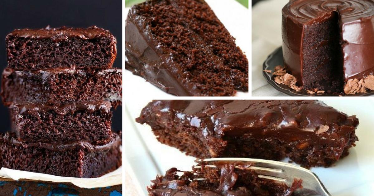 Receita Bolo de Chocolate Molhadinho sem Leite