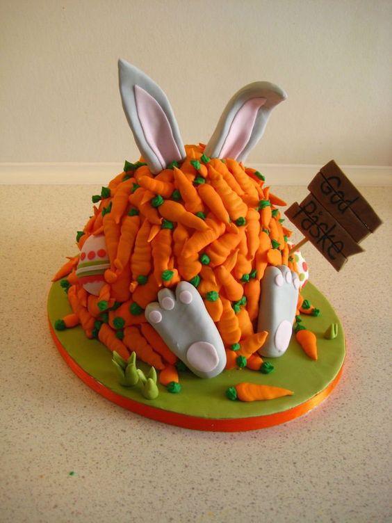bolo coelho Páscoa cenouras