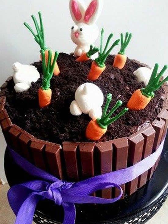 bolo coelho Páscoa ovinhos cenouras