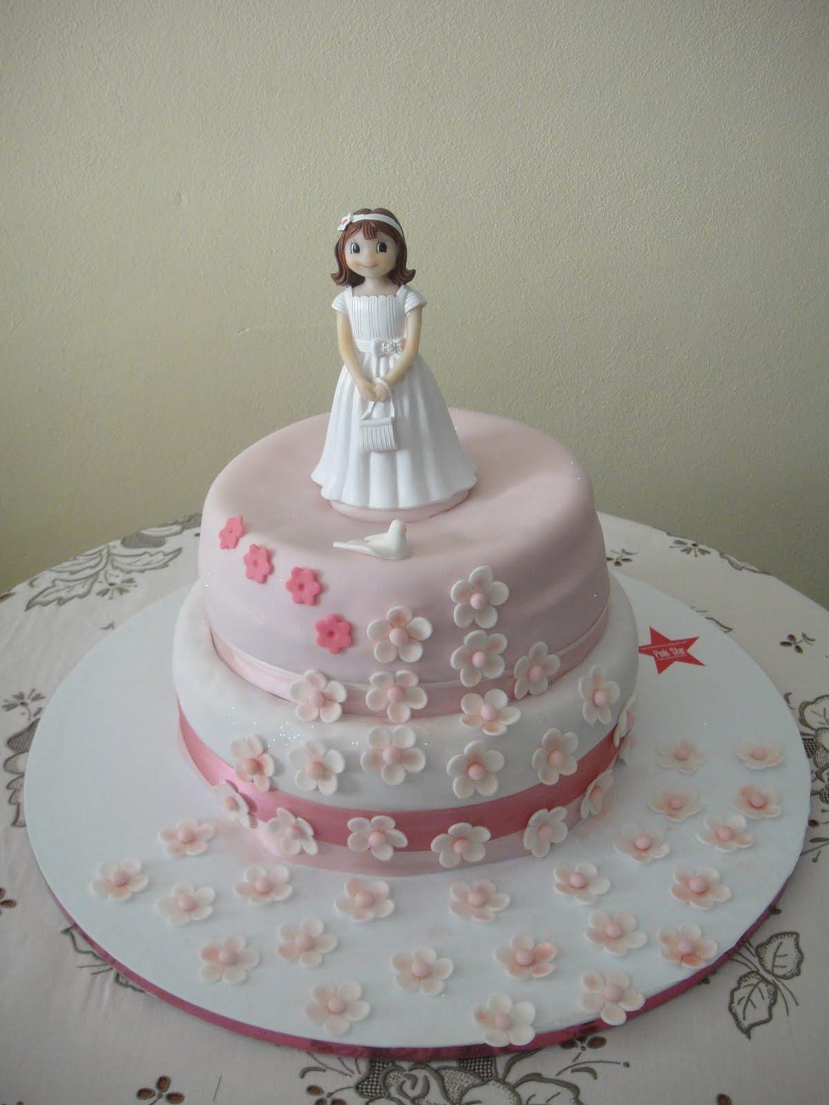 bolo comunhão rosa