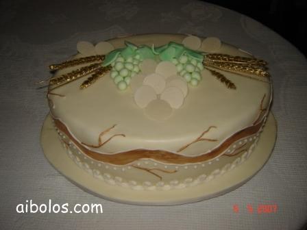 bolo comunhao solene decorado