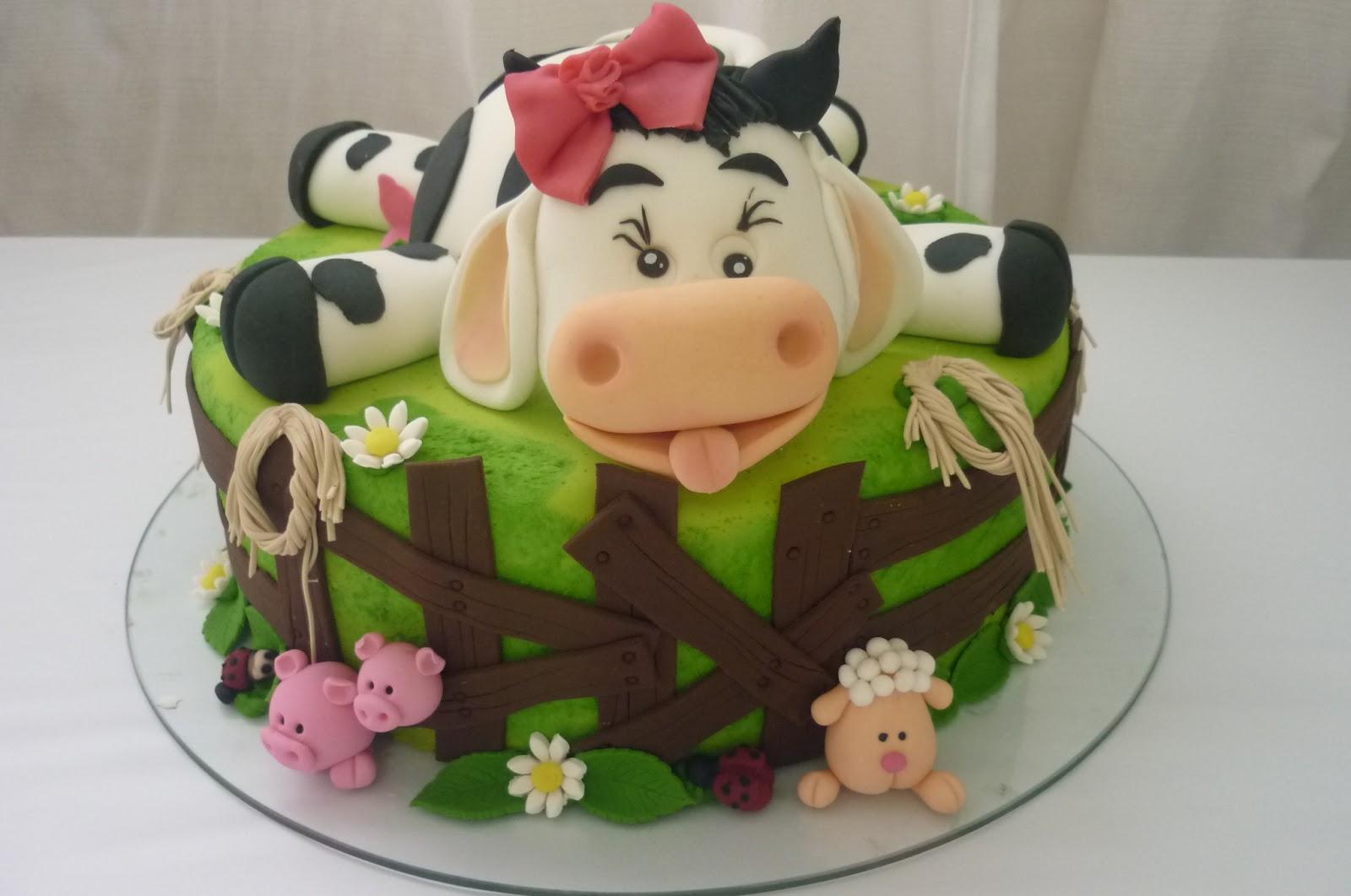 bolo criança fazendinha