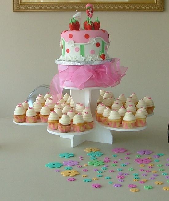 bolo cupcakes moranguinho