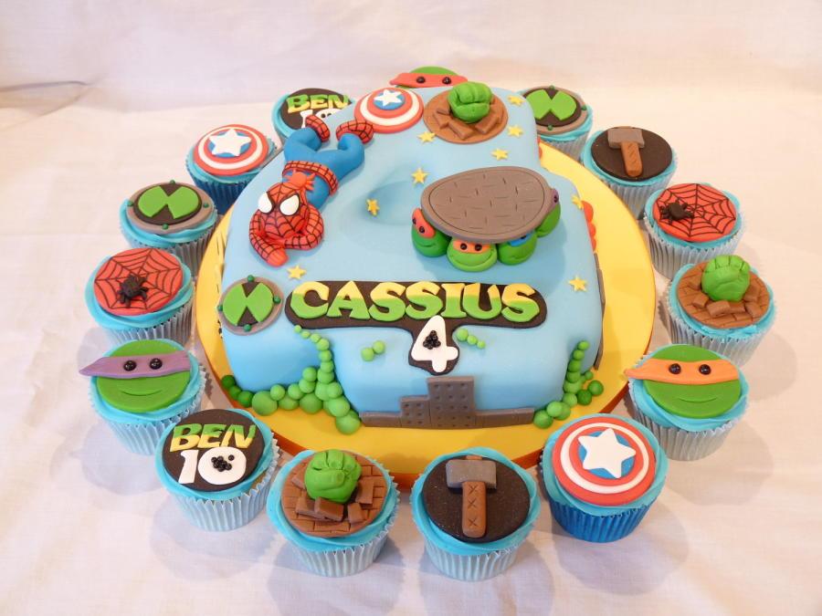 bolo cupcakes super herois
