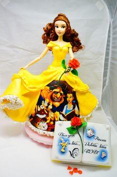 bolo da princesa bela decorado