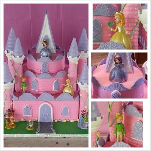bolo da princesa sofia castelo