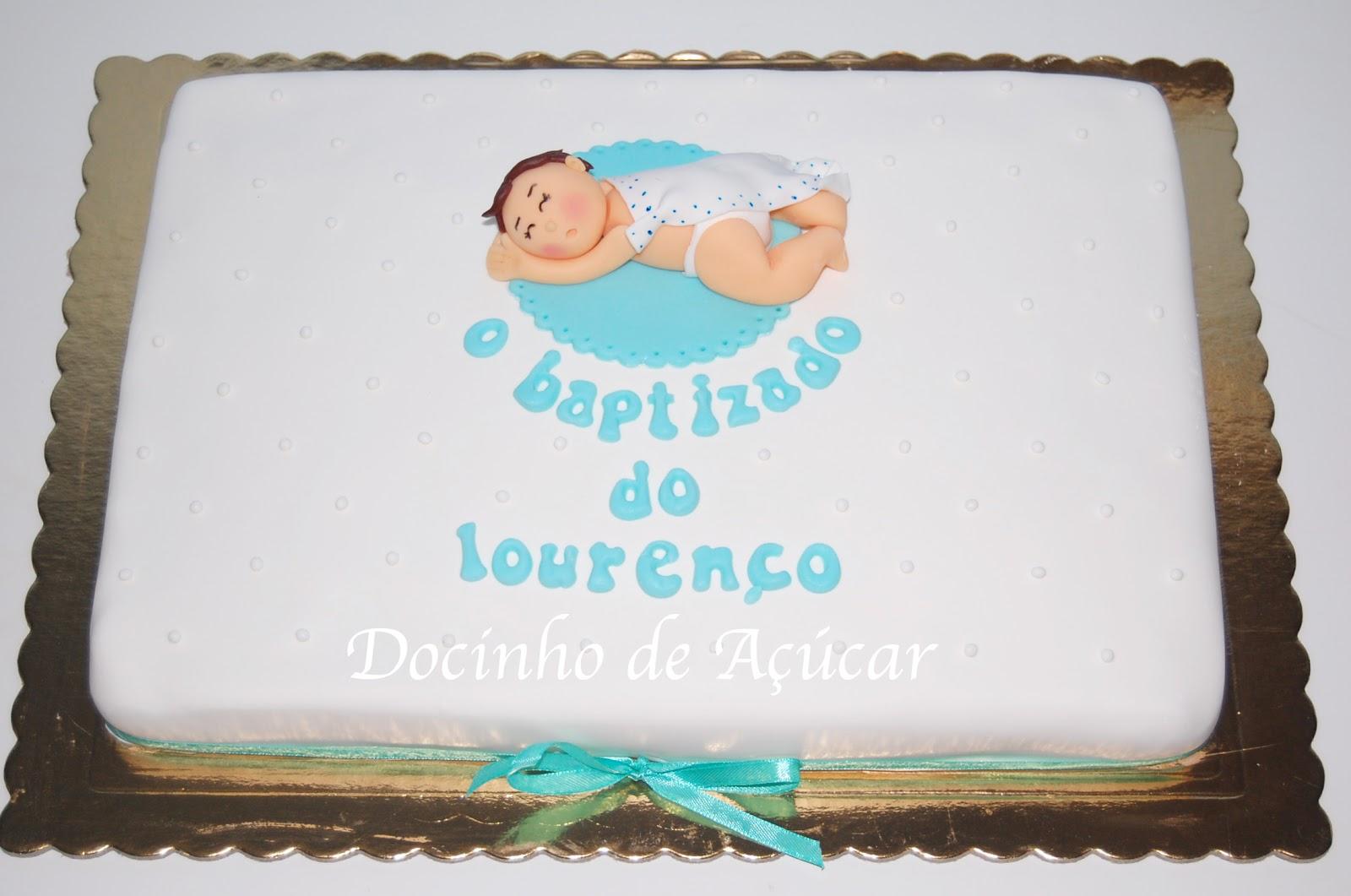 bolo de batizado decorado
