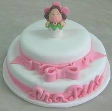 bolo de batizado menina