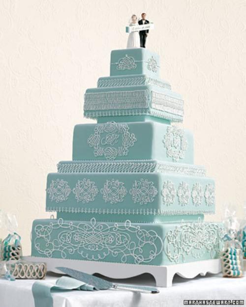 bolo de casamento azul6