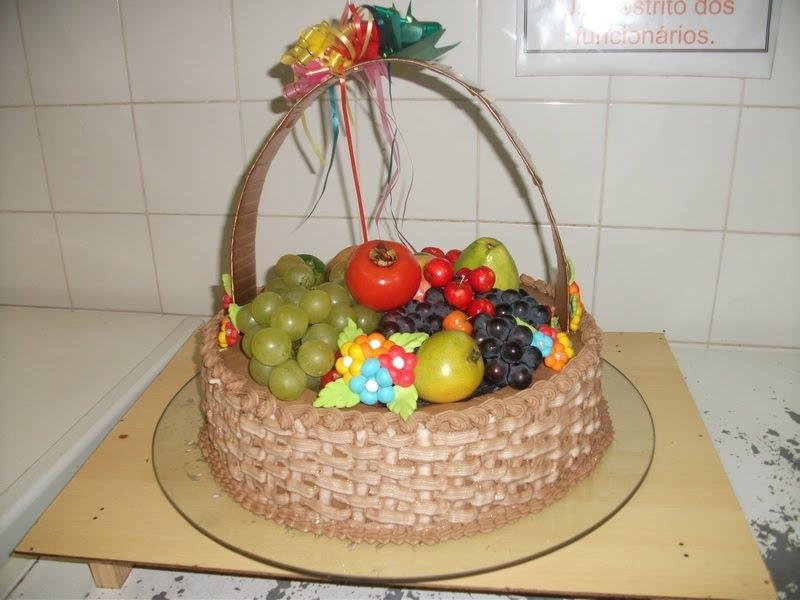 bolo de cesta frutas