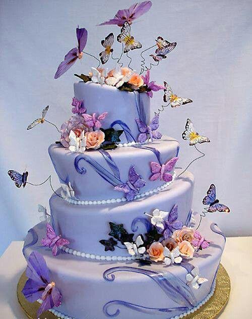 bolo de noiva borboletas