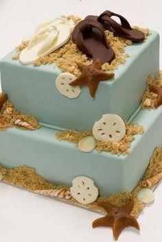 bolo de praia casamento