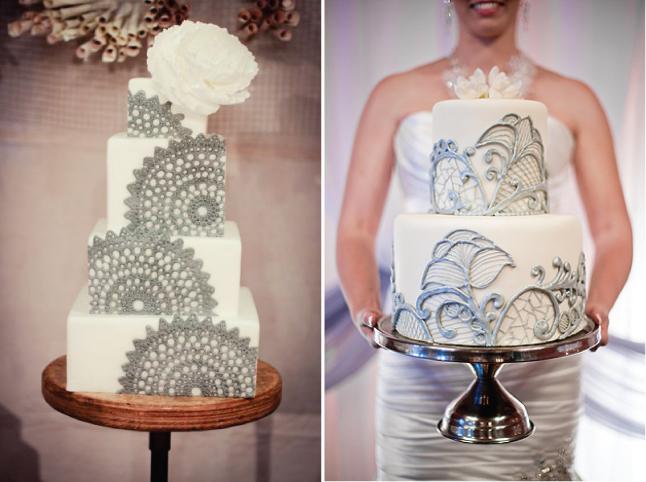 bolo de renda casamento
