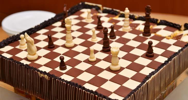 bolo de xadrez