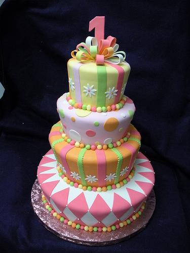 bolo decorado 1 ano