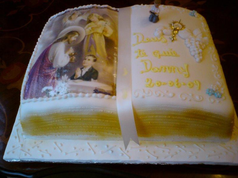 bolo decorado 1 comunhao livro