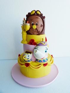 bolo decorado Bela e o monstro