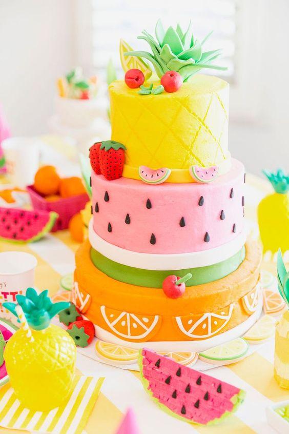 bolo decorado Tutti Frutti 0