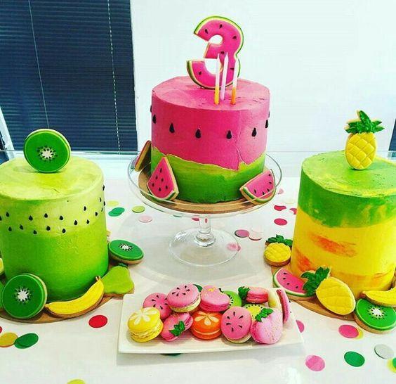 bolo decorado Tutti Frutti 1