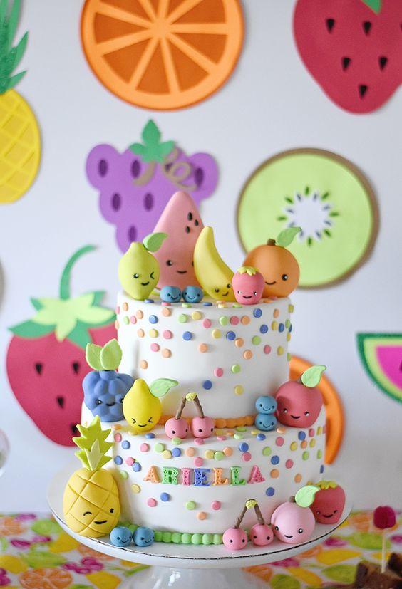 bolo decorado Tutti Frutti 2