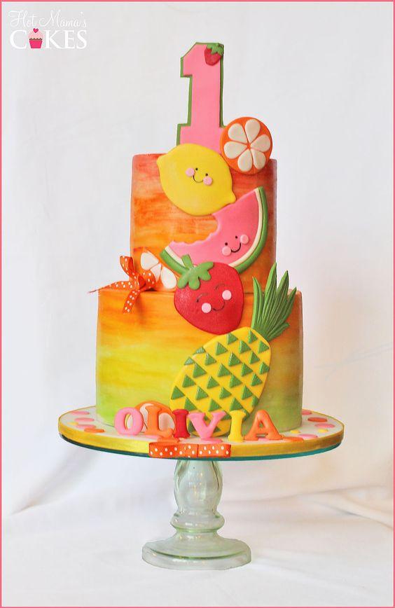 bolo decorado Tutti Frutti 4