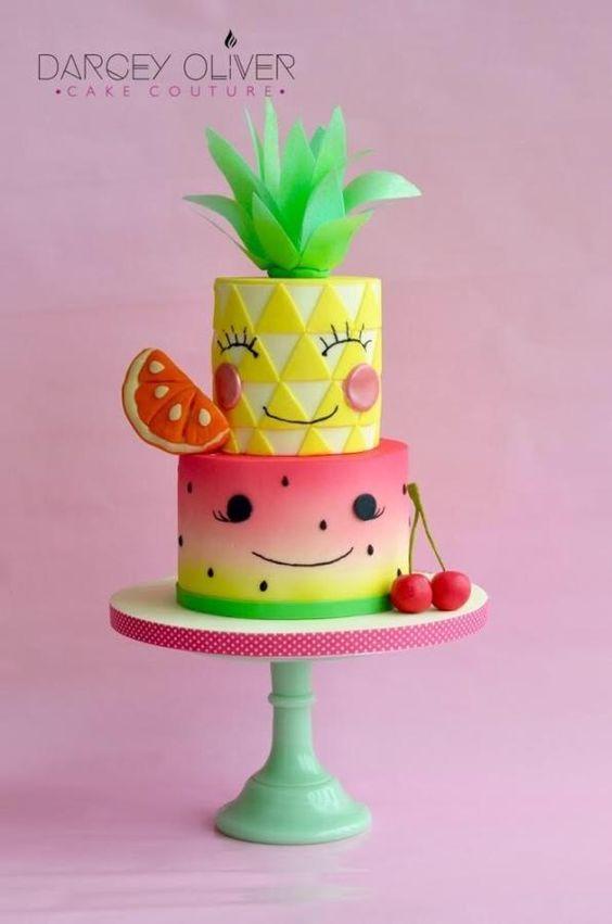 bolo decorado Tutti Frutti 5