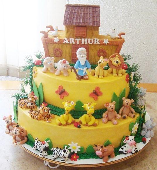 bolo decorado arca noe 1