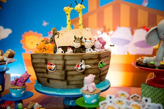 bolo decorado arca noe 7