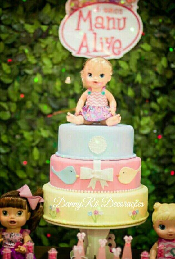 bolo decorado baby alive 2