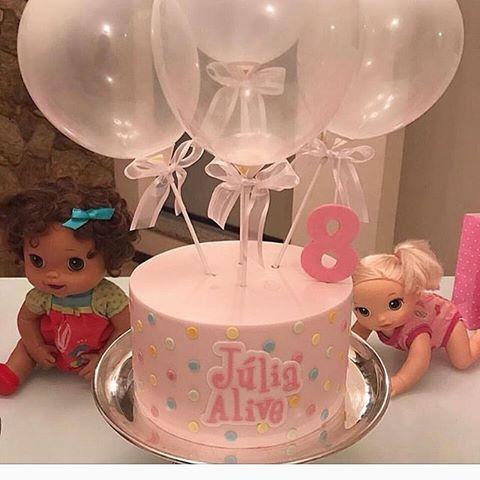 bolo decorado baby alive 6