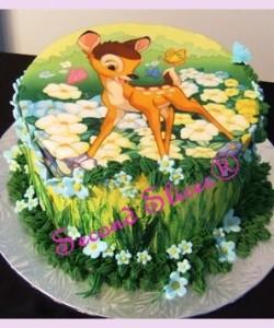 bolo decorado bambi
