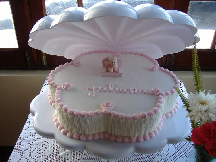 bolo decorado batizado