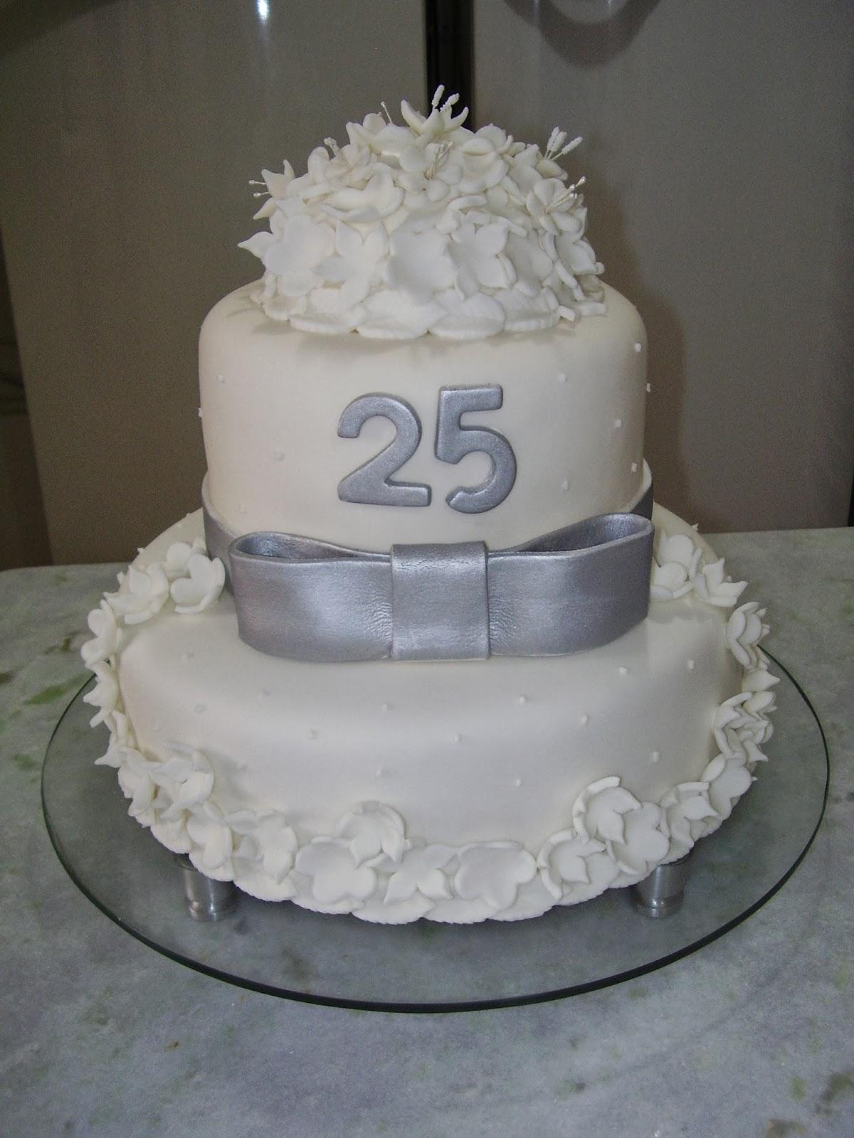 bolo decorado bodas de prata