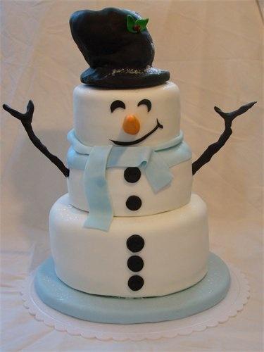 bolo decorado boneco de neve1