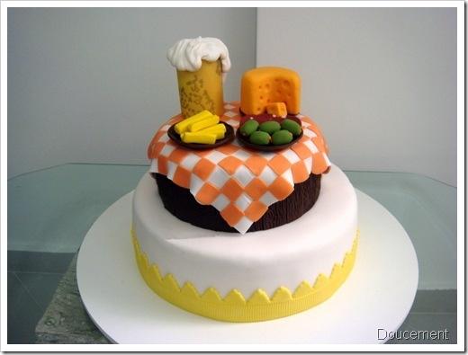 bolo decorado boteco