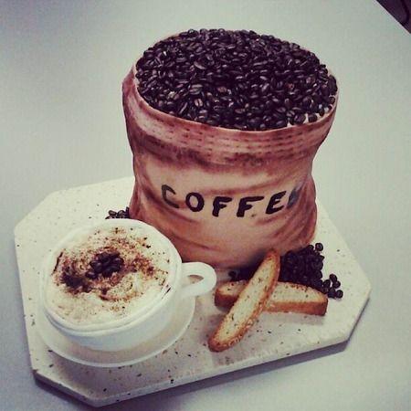 bolo decorado cafe criativo