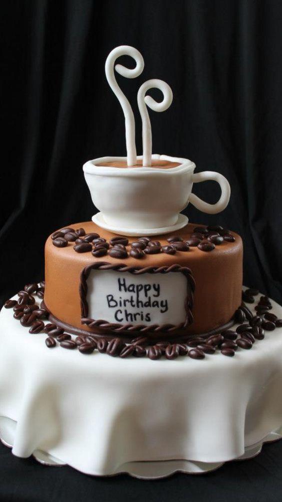 bolo decorado cafe ideias