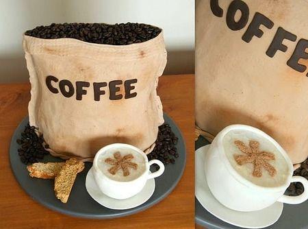 bolo decorado cafe saco