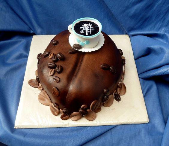 bolo decorado cafe simples