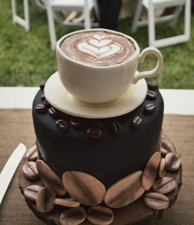 bolo decorado cafe xicara