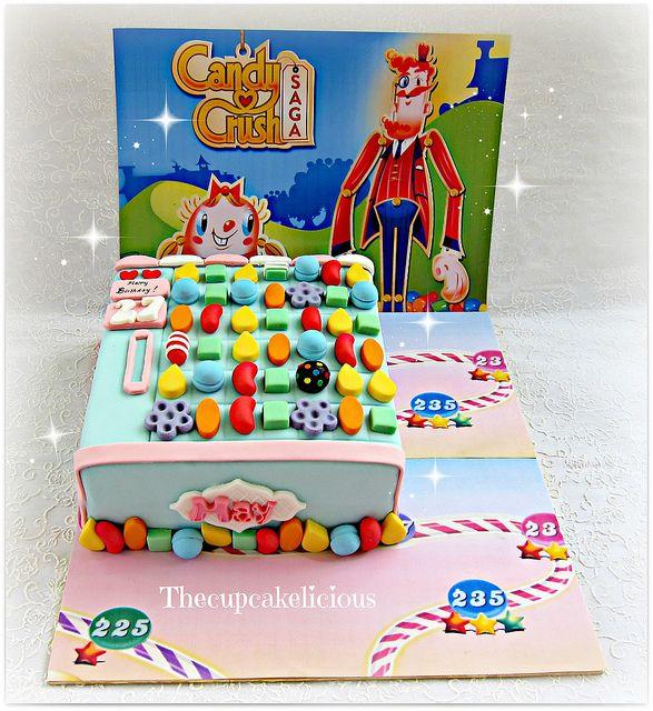 bolo decorado candy crush