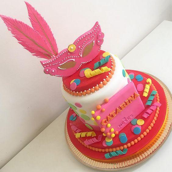 bolo decorado carnaval 1