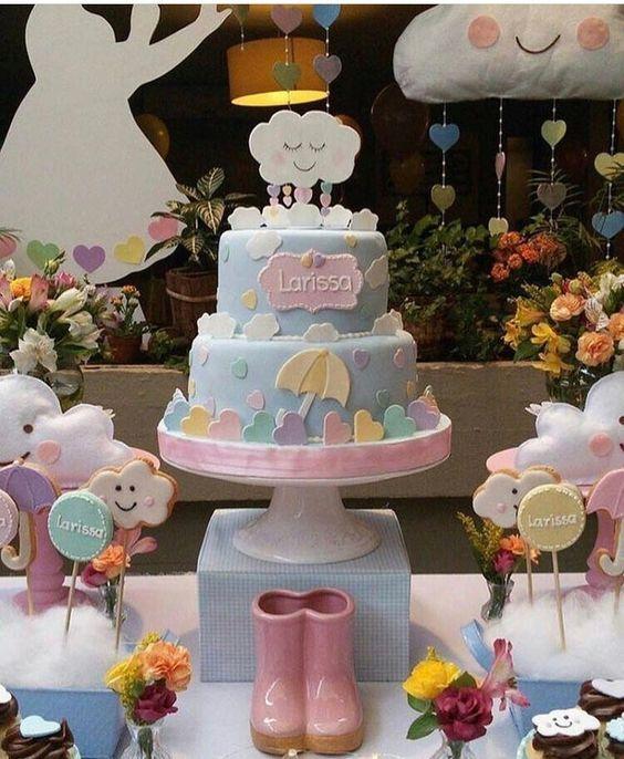 bolo decorado chuva amor 7