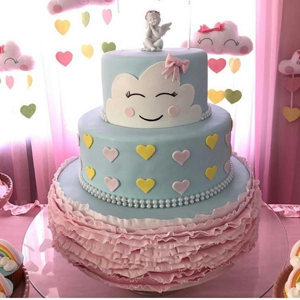bolo decorado chuva amor 8